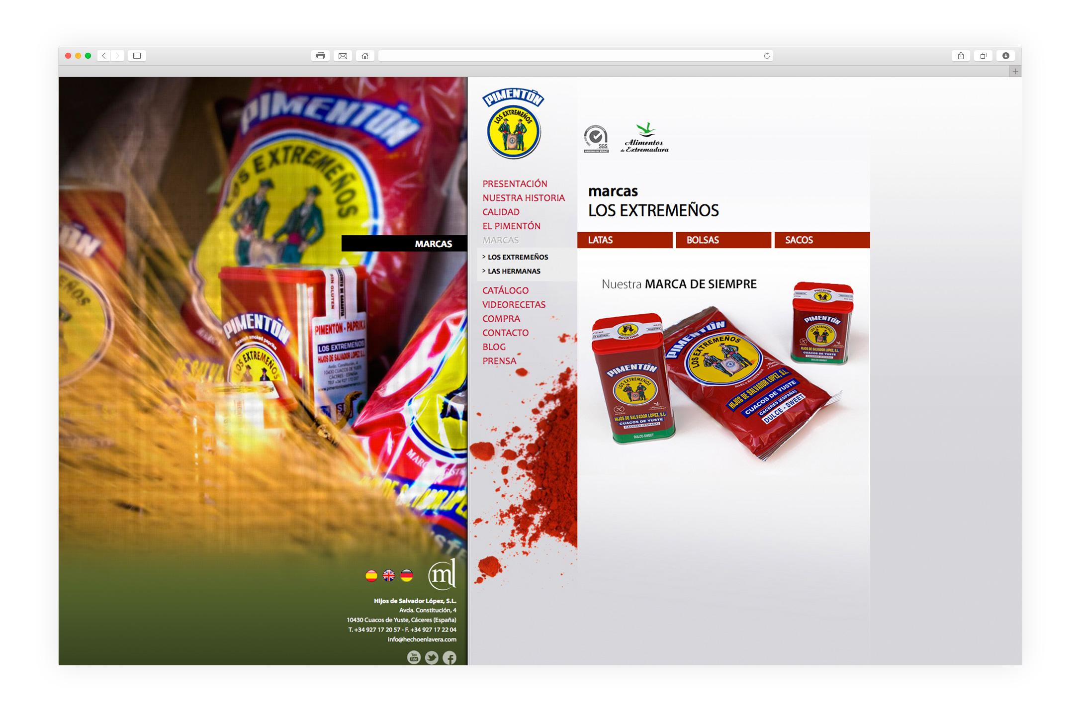 diseño web los extremeños