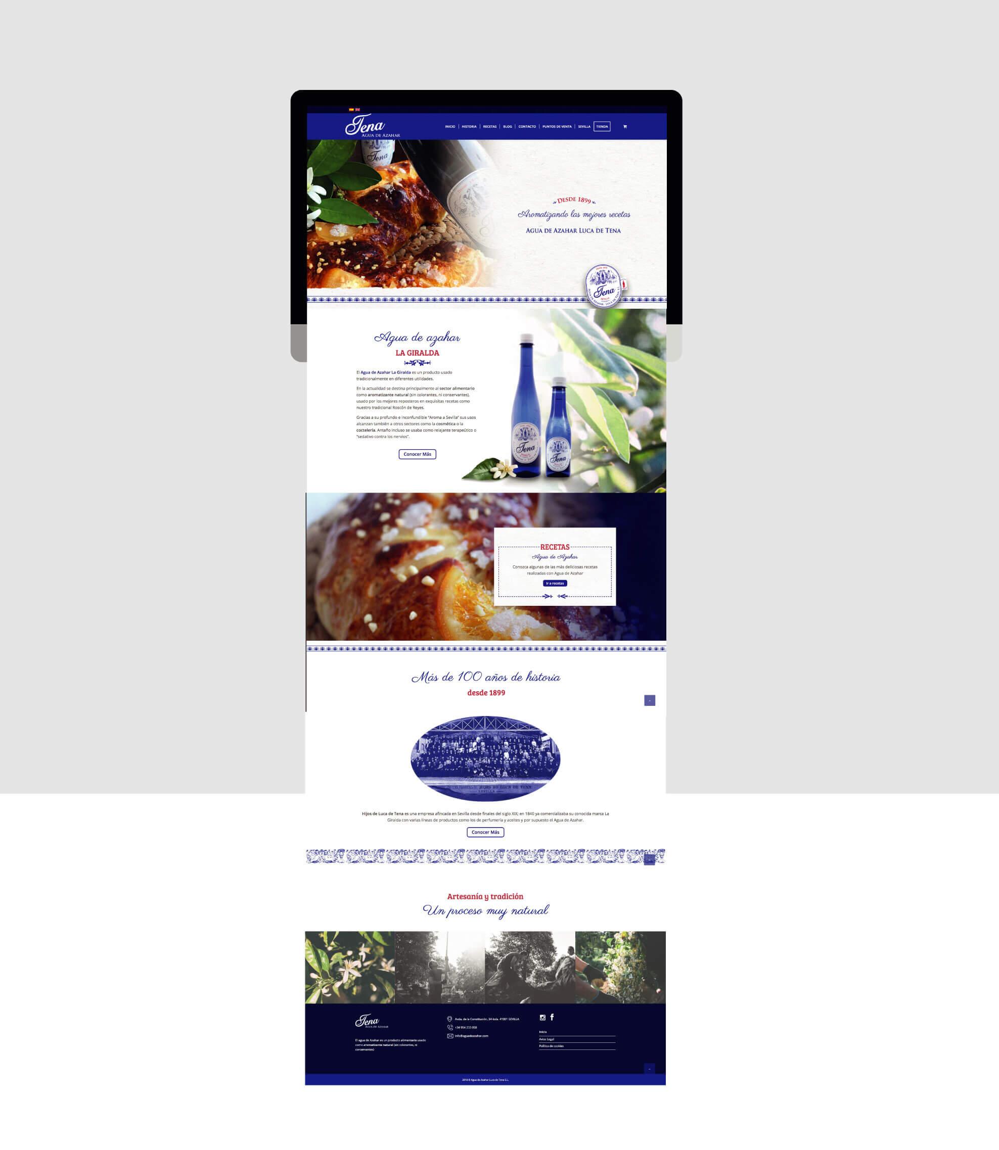 pantalla web
